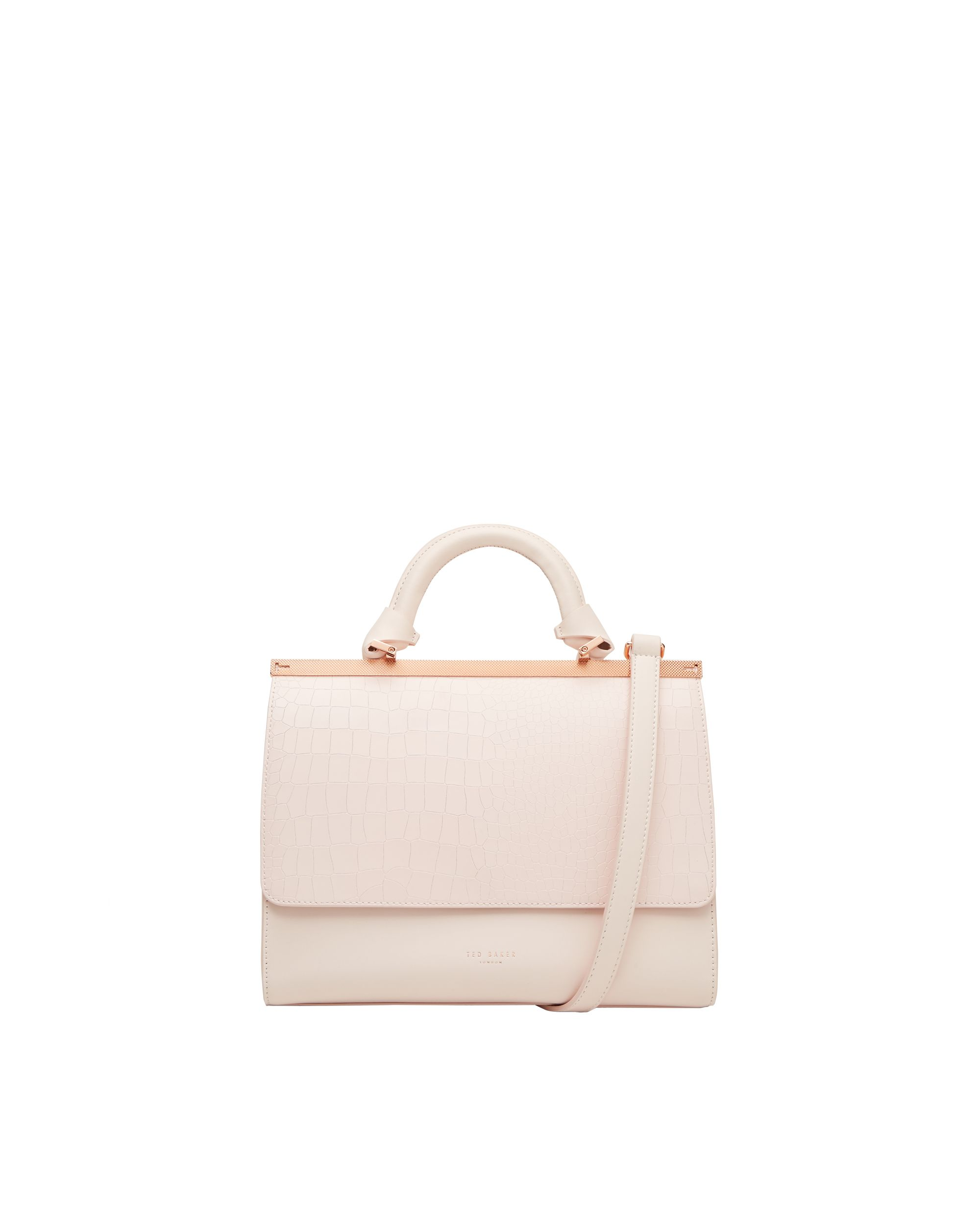 Ted Baker Maven Exotic leather top handle bag Pink