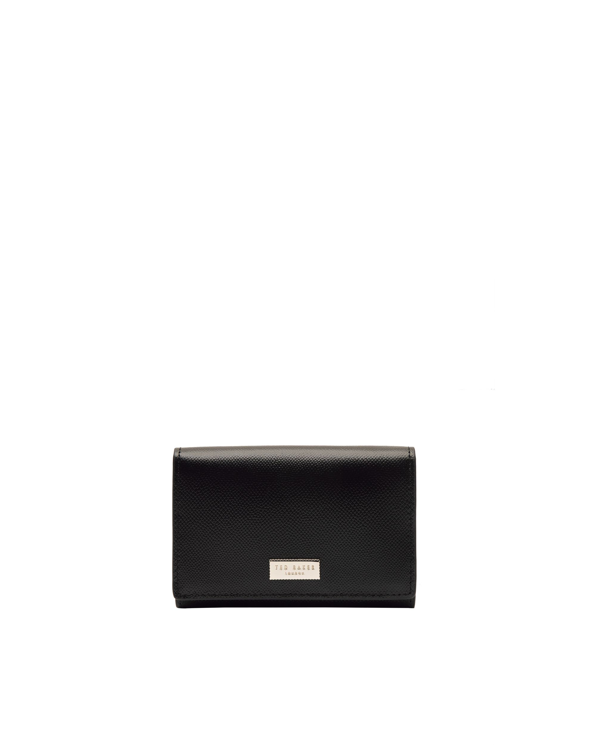 Ted Baker Carlein Cross grain small leather purse Black