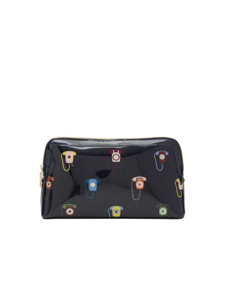 Ted Baker Alleen Telephone print large wash bag