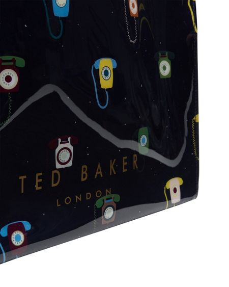 Ted Baker Dancon Telephone print large icon shopper bag