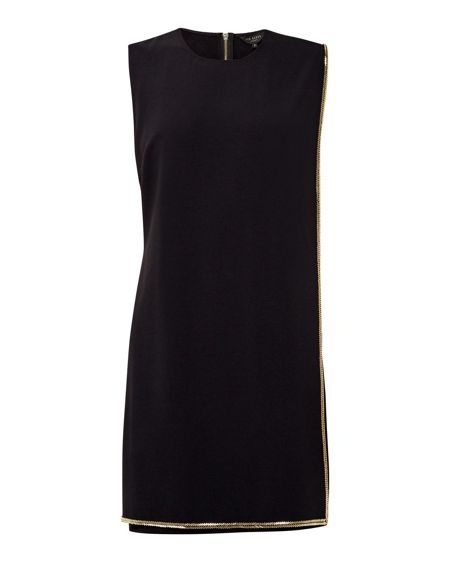 Ted Baker Byliee Embellished trim layered dress