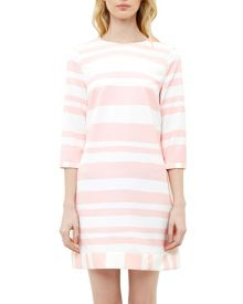 Ted Baker Jangle Two-tone striped tunic dress