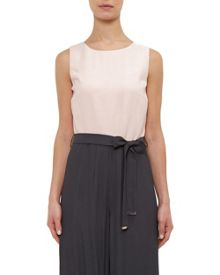Ted Baker Afu Colour-block belted jumpsuit