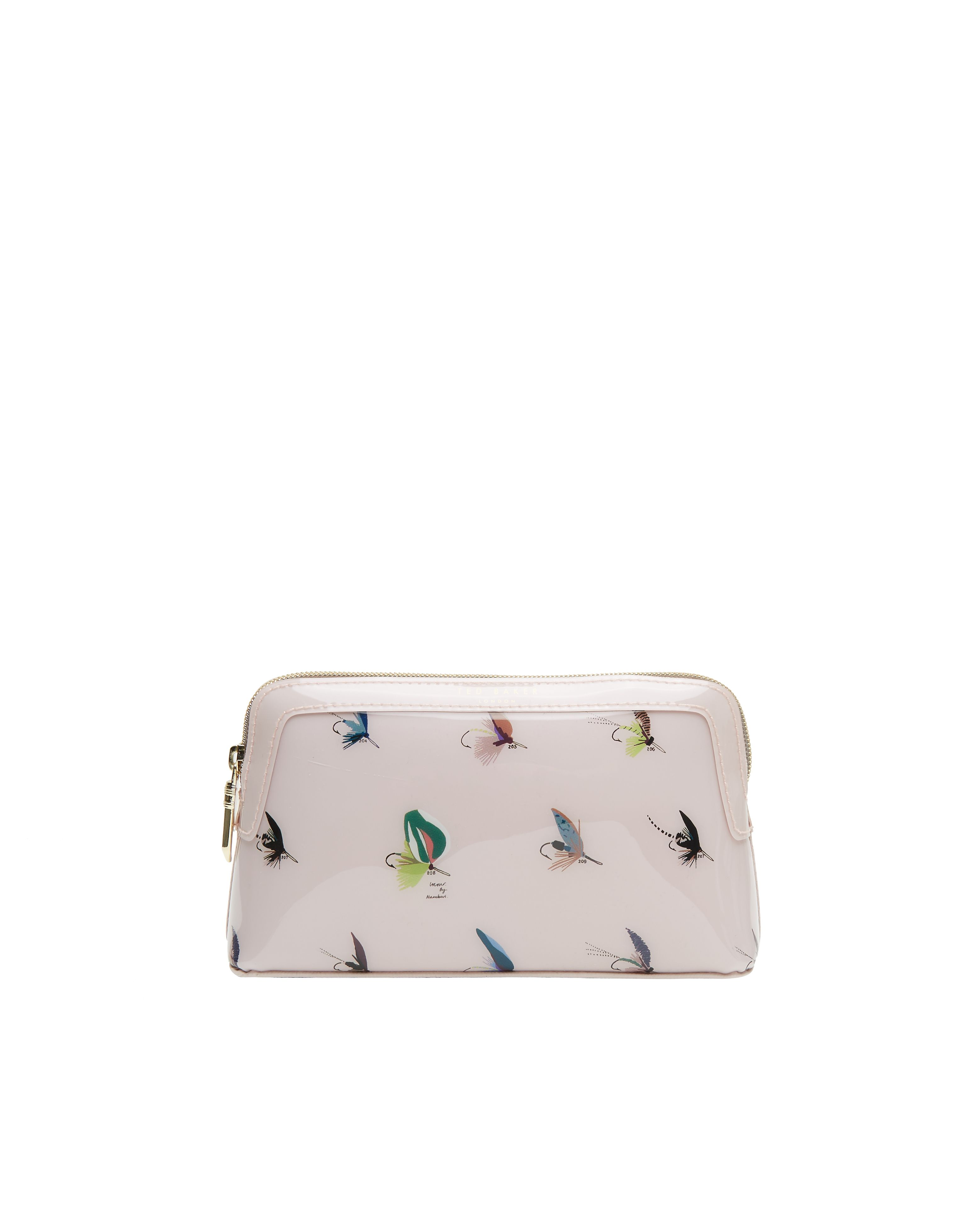 Ted Baker Delfia Fly fishing small wash bag Pastel Pink