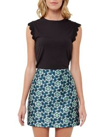 Ted Baker Elliah Scallop Detail Fitted T-Shirt