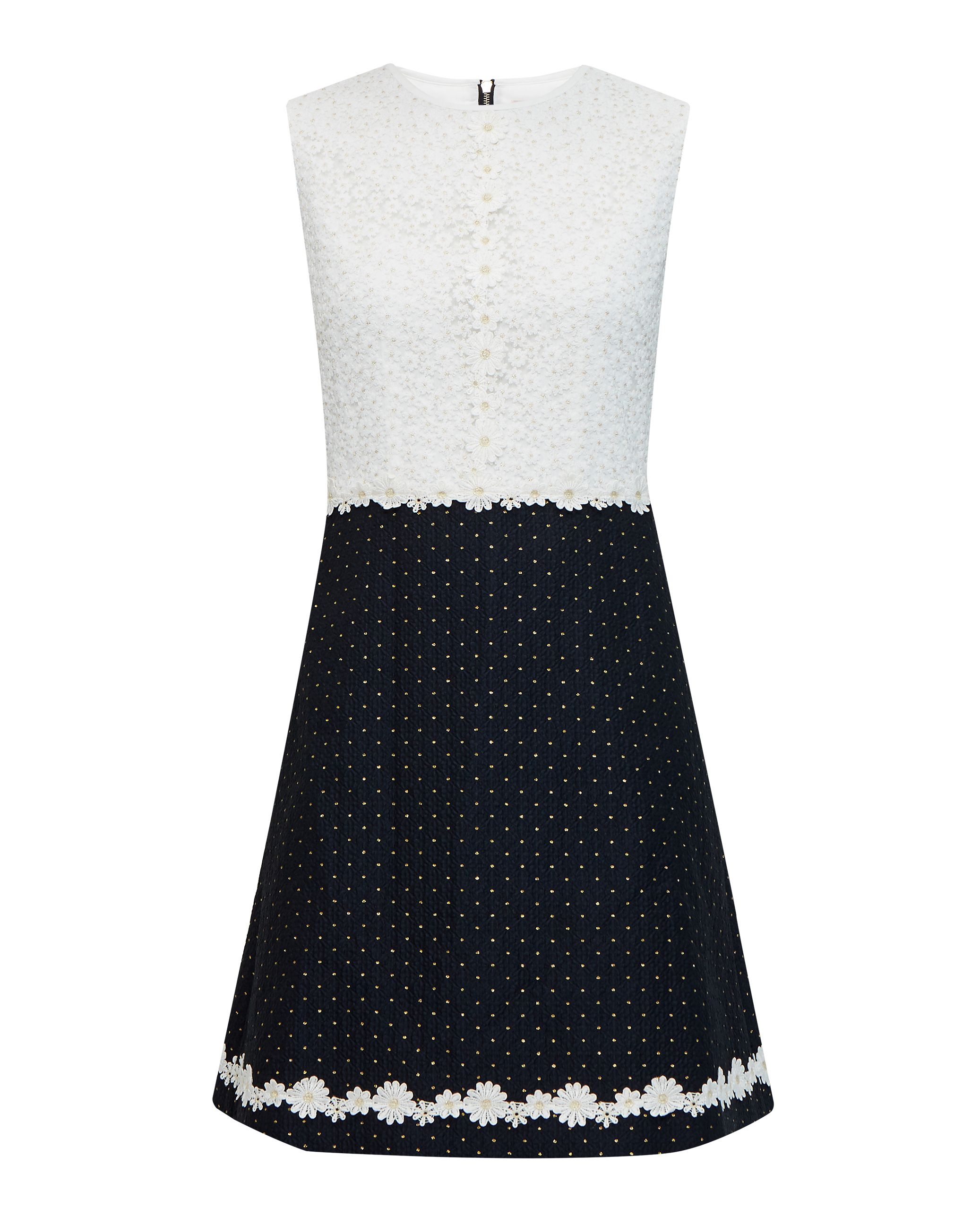 Ted Baker Olara Daisy Lace Shift Dress, Dark Blue