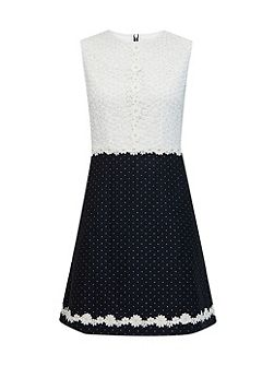 Olara Daisy Lace Shift Dress