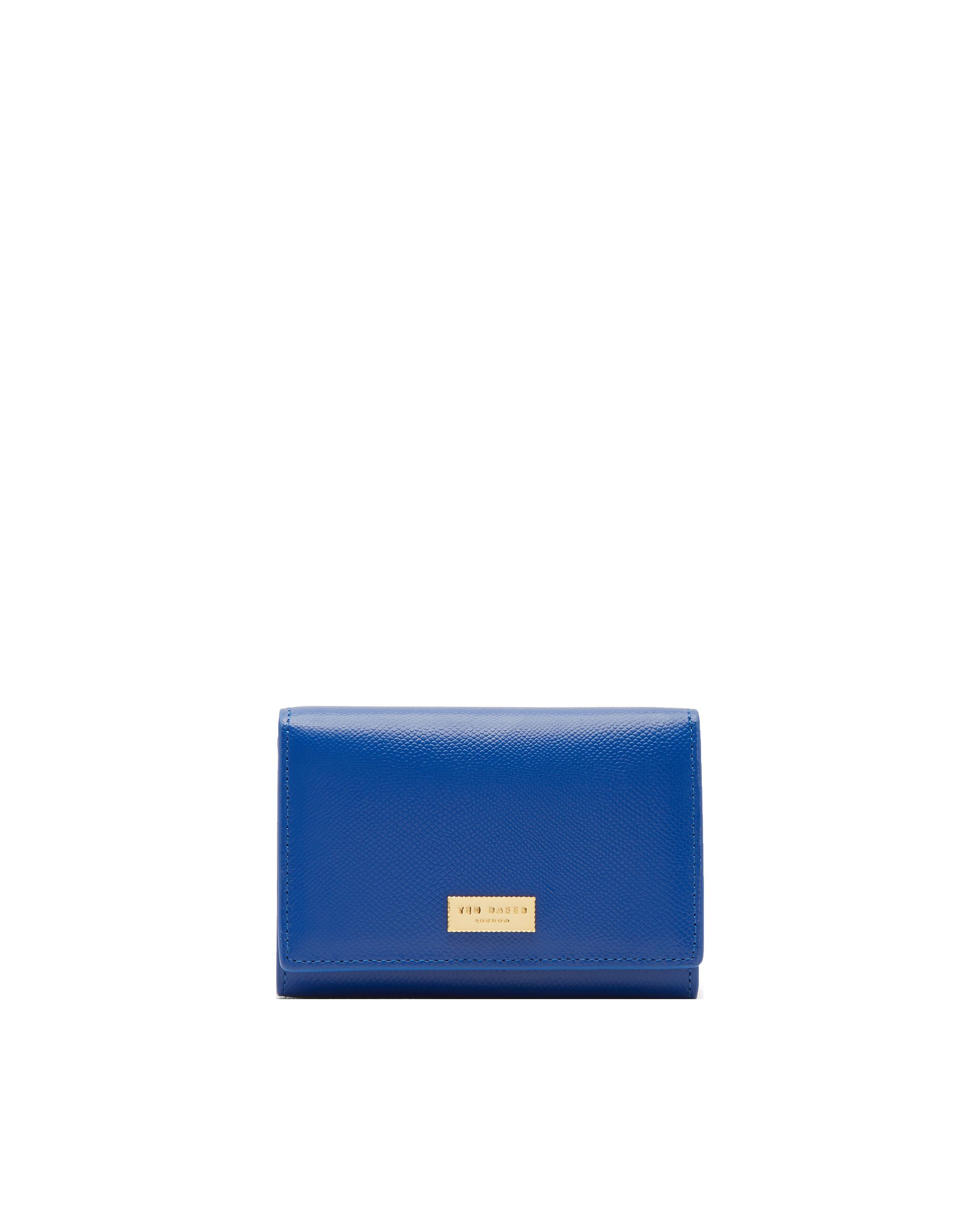 Ted Baker Carlein Cross Grain Small Leather Purse Blue