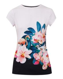 Ted Baker Gerinue Orchid Wonderland fitted T-shirt