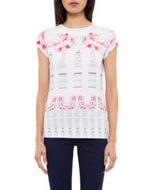 Ted Baker Jessah Window Box fitted T-shirt