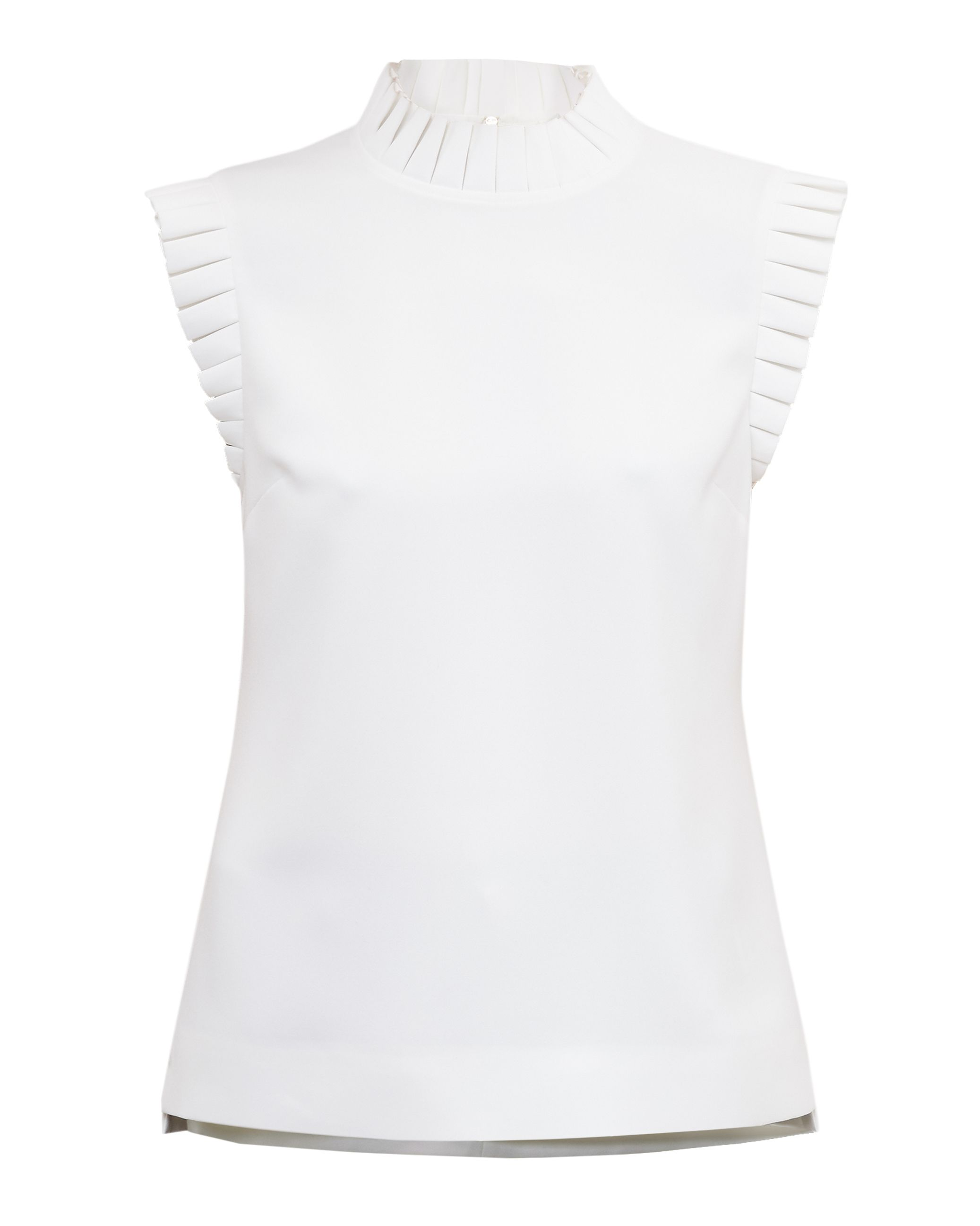 Ted Baker Tayya Pleated Trim Top, White