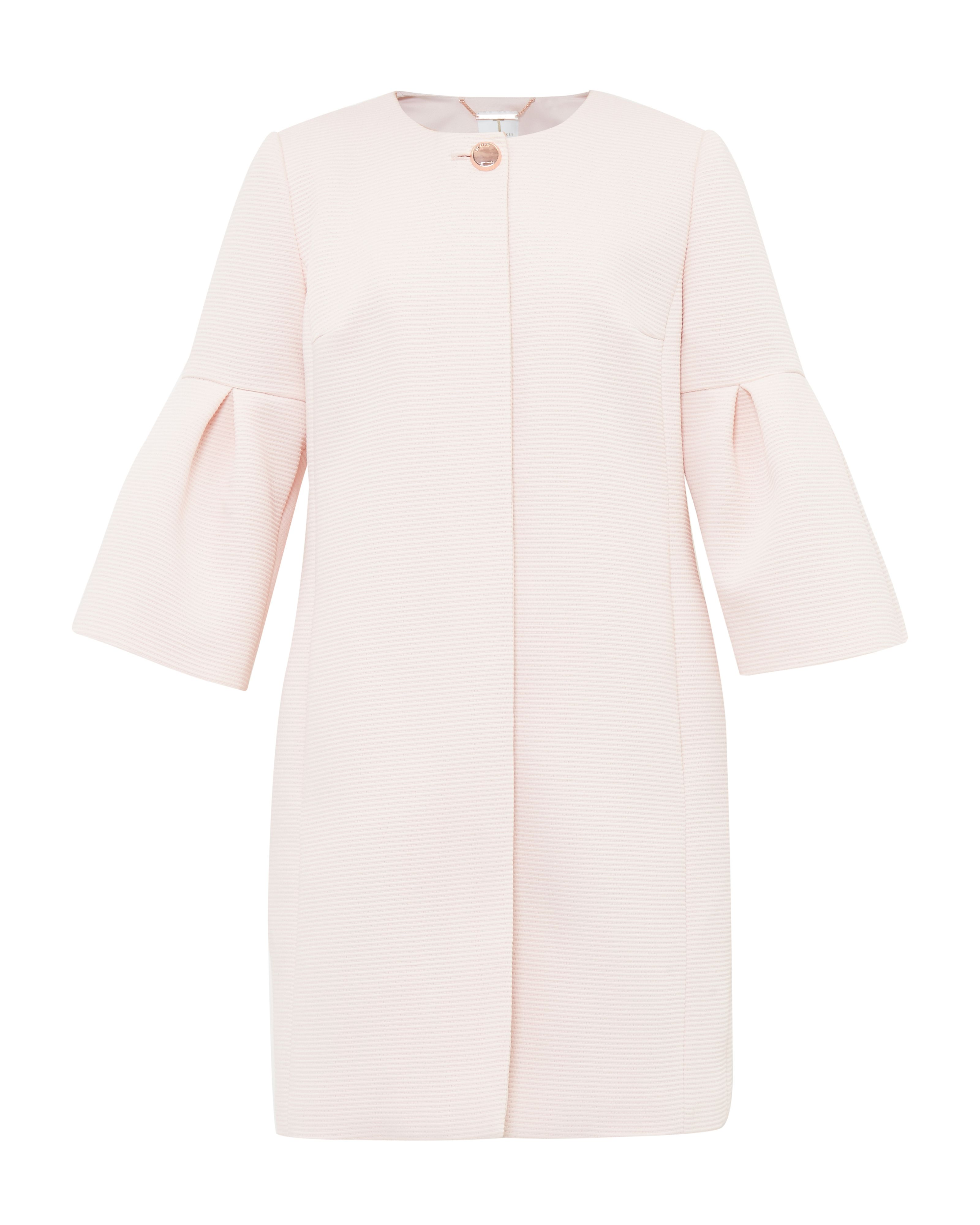 Ted Baker Macea Bell Sleeved Coat, Pastel Pink