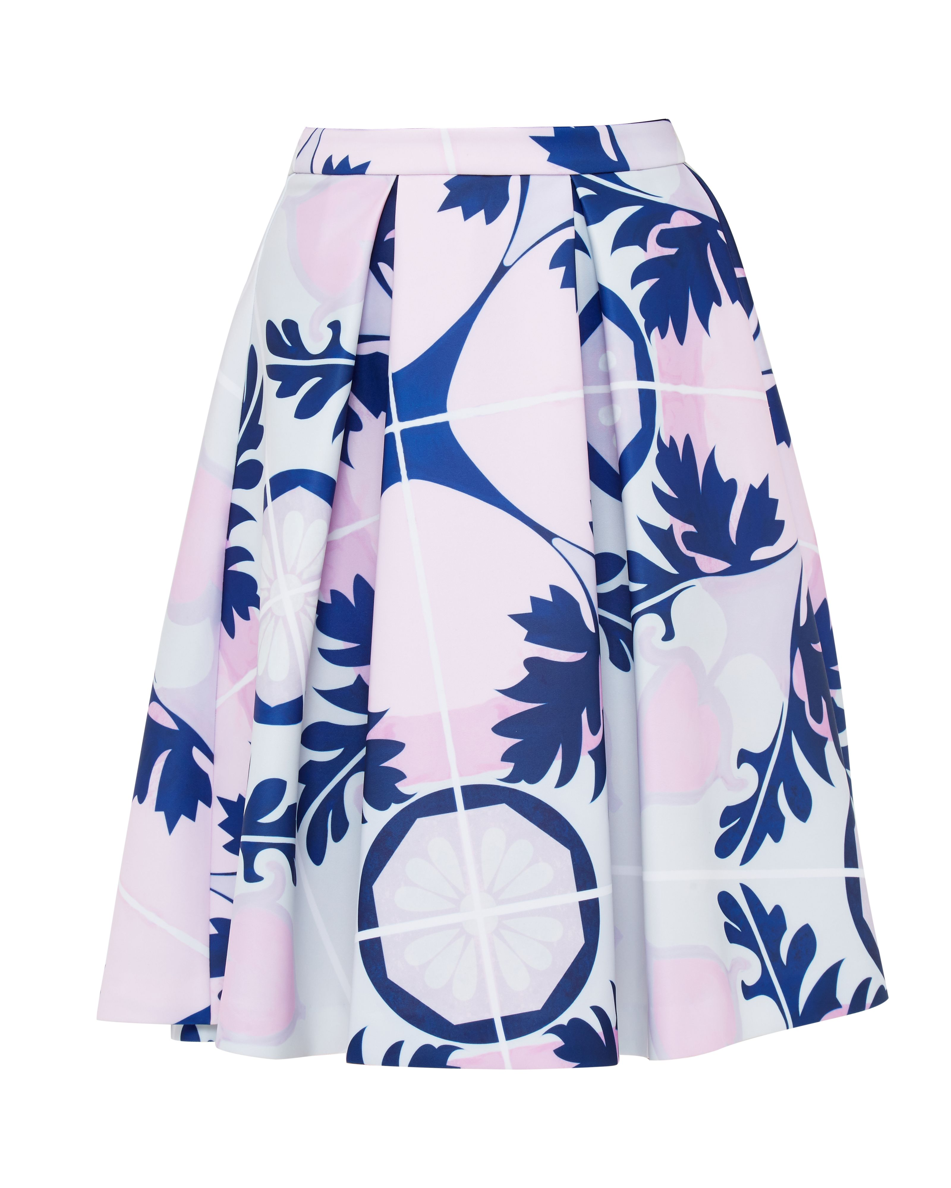 Ted Baker Jaimeeh Marina Mosaic pleated skirt, Blue