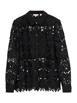Sydneey Lace panel shirt