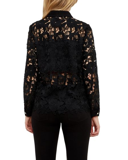 Ted Baker Sydneey Lace panel shirt
