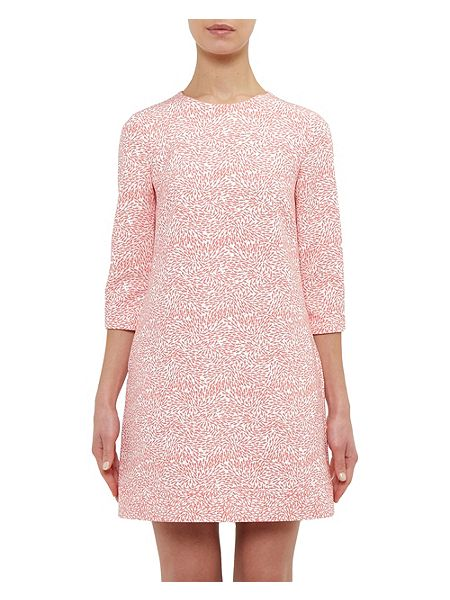 Ted baker jiggle fish print shift dress pink house of fraser for Fish print dress