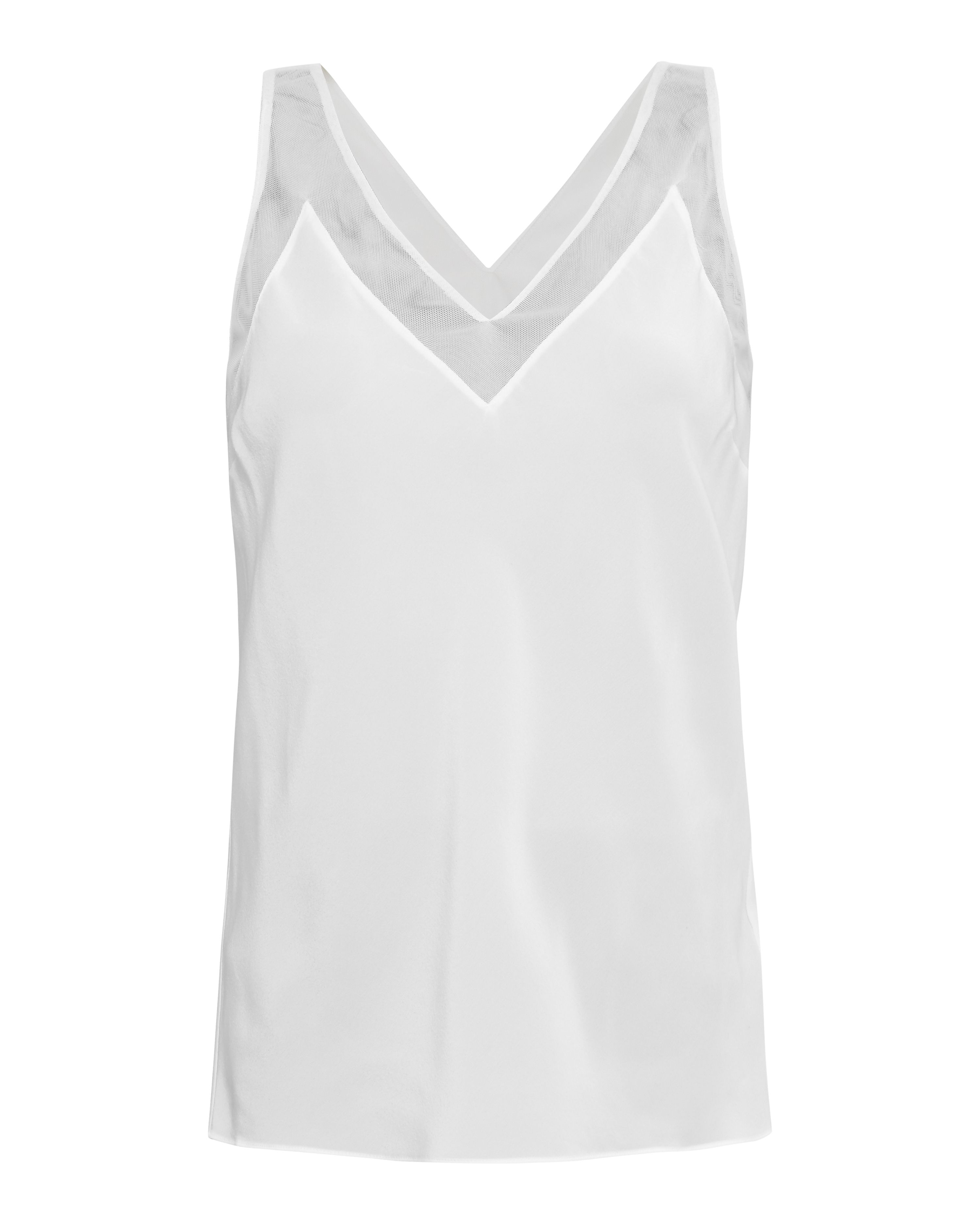 Ted Baker Leiaa Silk mesh top, White