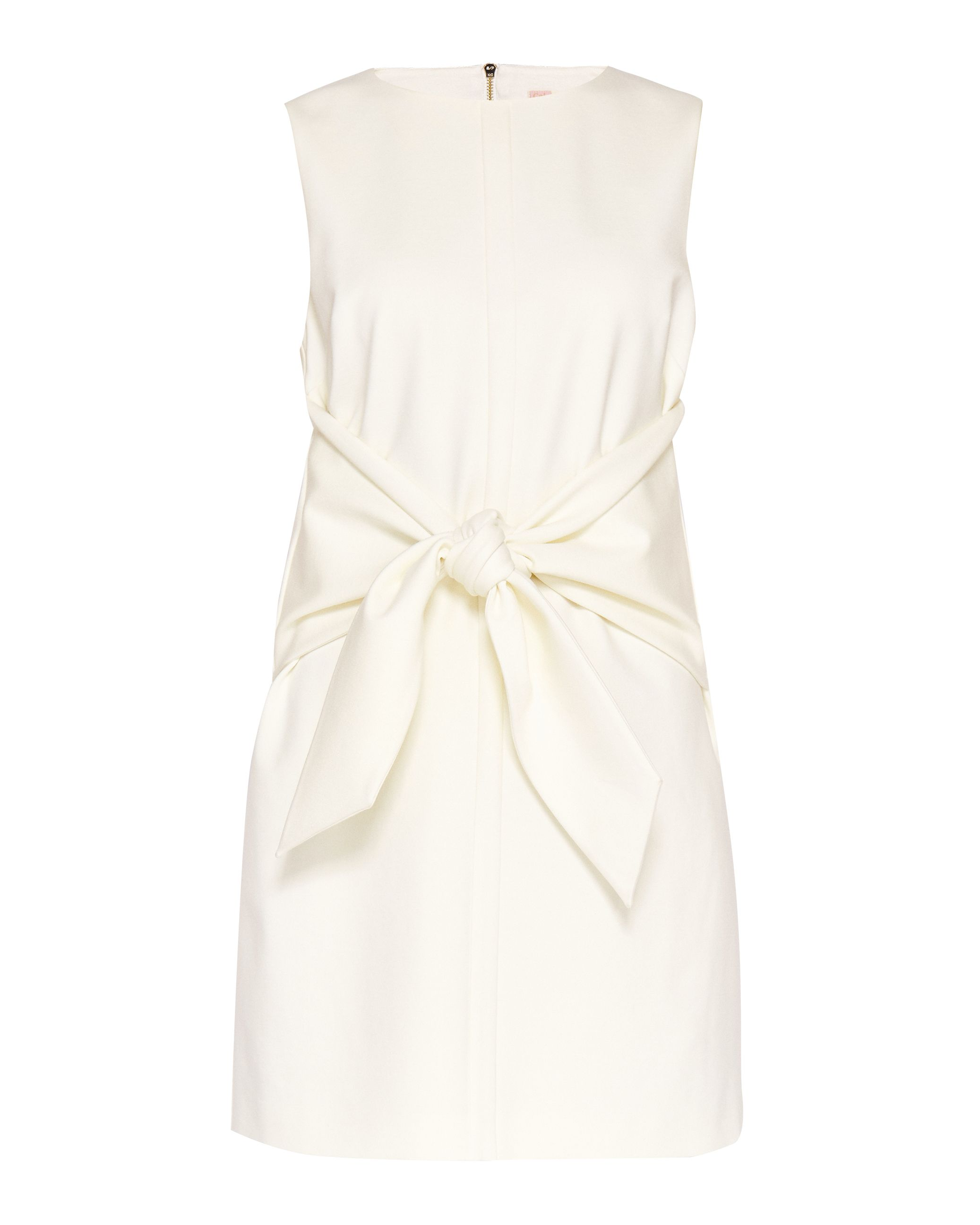 Ted Baker Papron Tie Front Dress, White