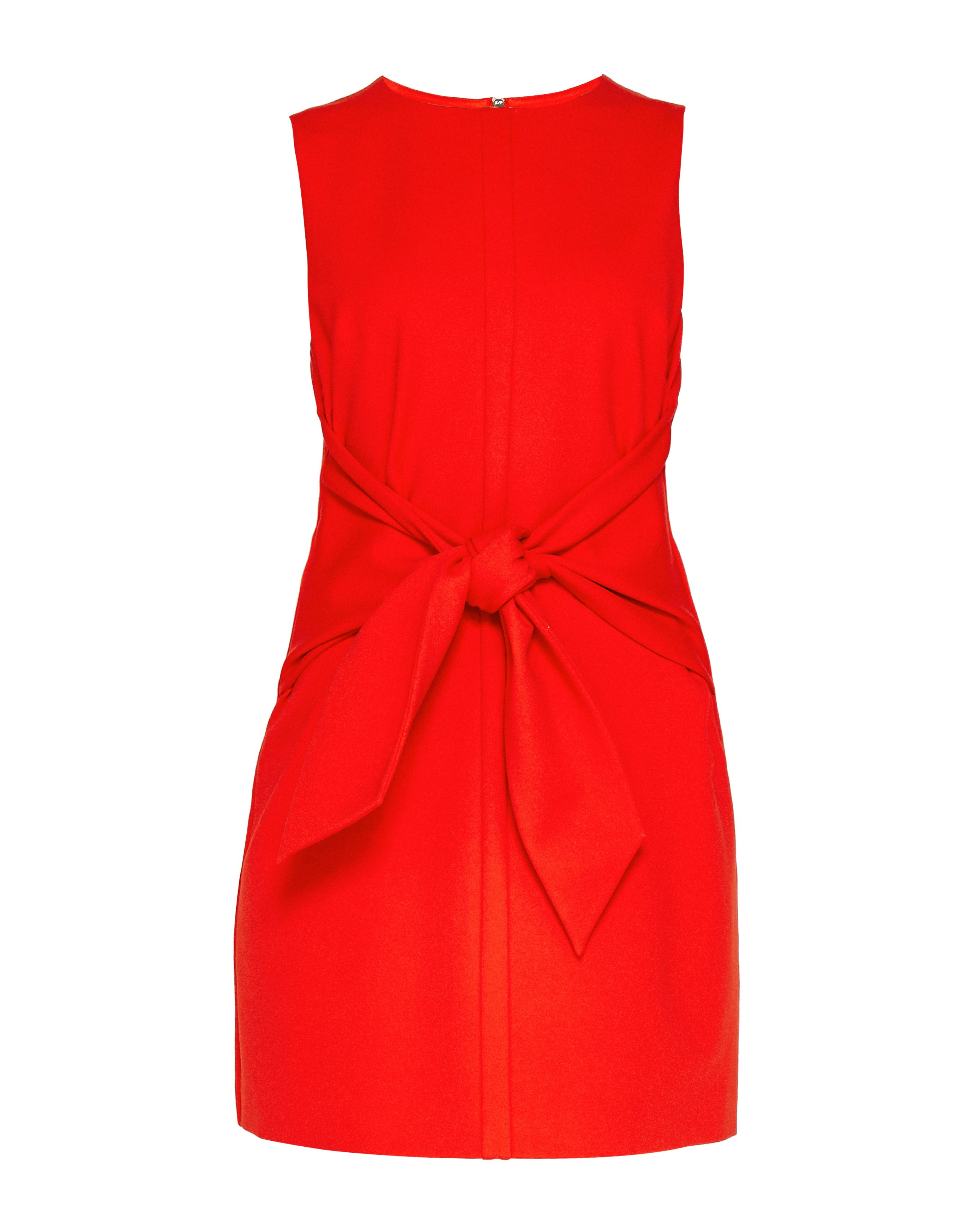 Ted Baker Papron Tie Front Dress, Orange