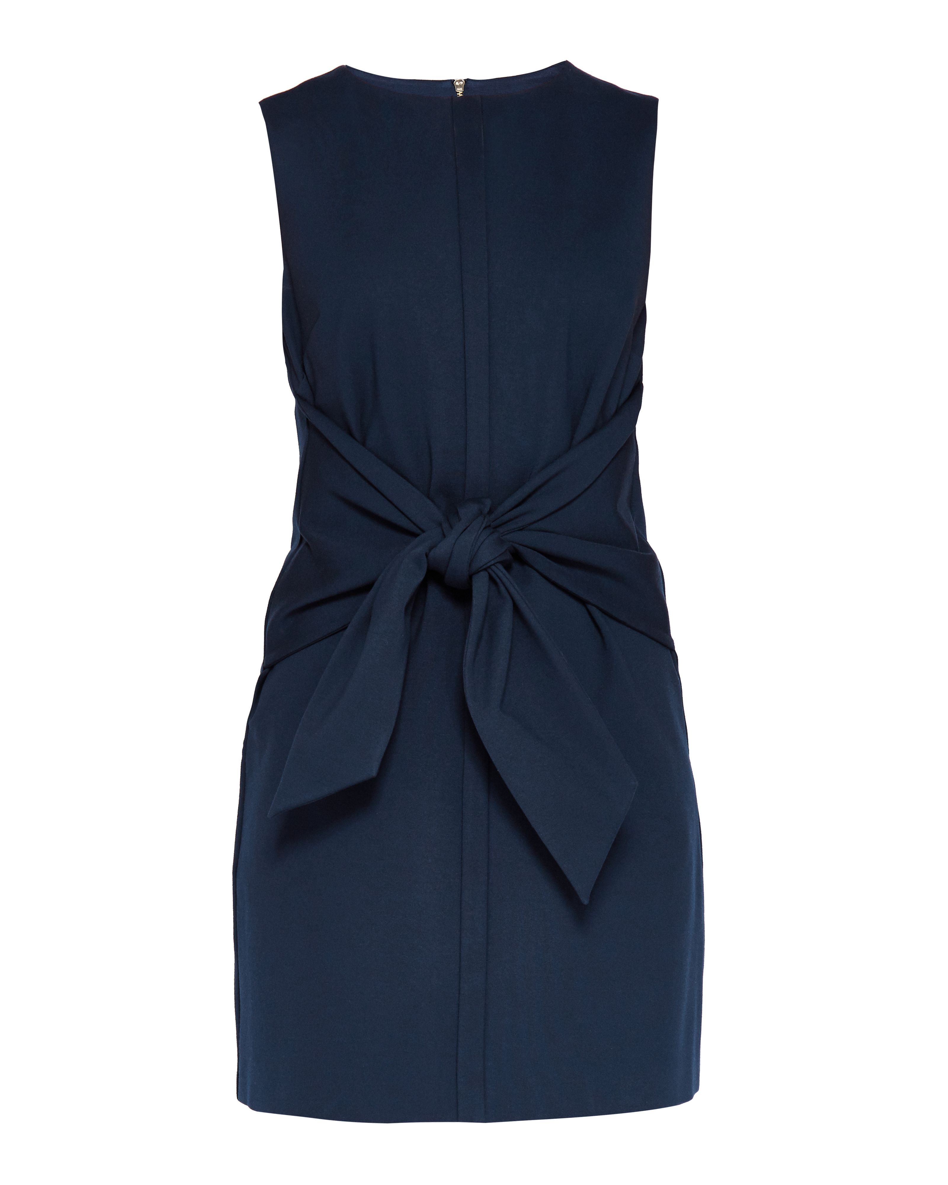 Ted Baker Papron Tie Front Dress, Blue