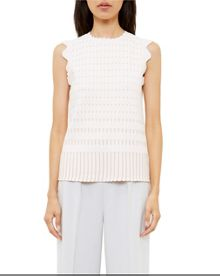 Ted Baker Anyabel Metallic Jacquart Scalloped Top