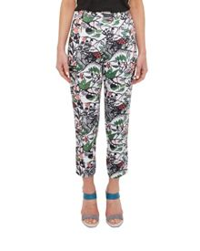 Ted Baker Hibica Floral print crossover trousers
