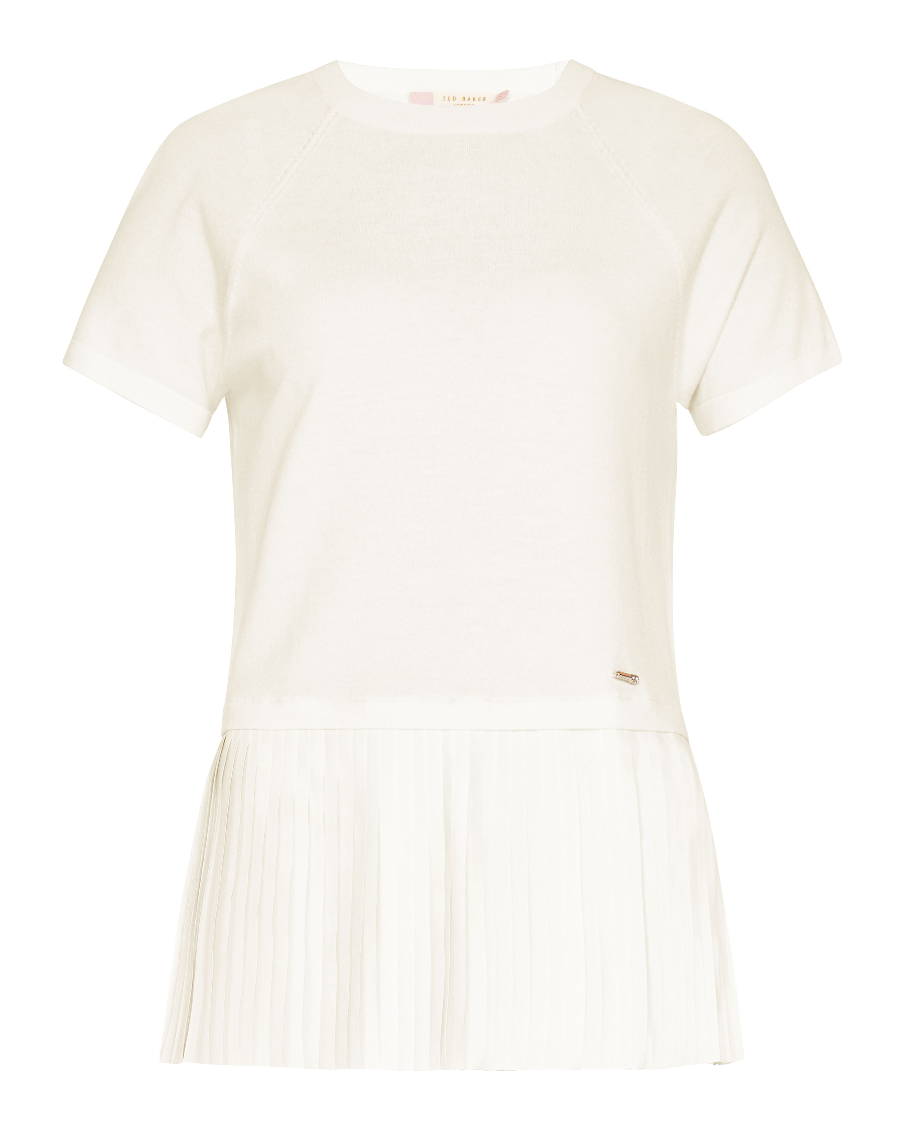 Ted Baker Gutai Pleated Layered Top, White