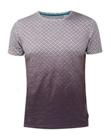Ted Baker About Ombré geo print cotton T-shirt