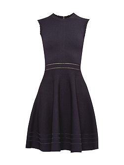 Carilyn Knitted Cut-Out Skater Dress