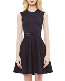 Ted Baker Carilyn Knitted Cut-Out Skater Dress