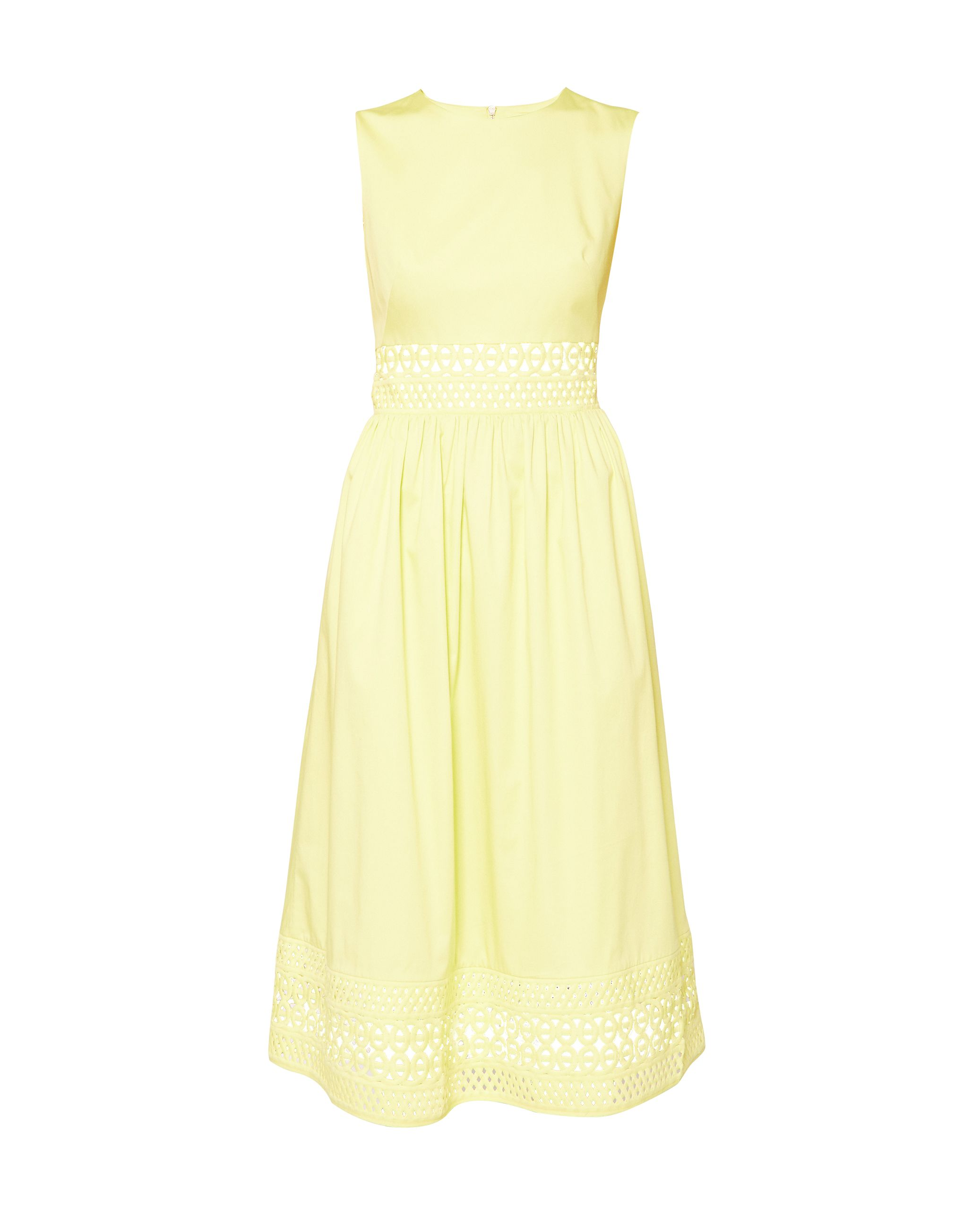 Ted Baker Tharia Cut-Out Lace Cotton Dress, Green