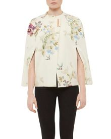 Ted Baker Zephir Spring Meadow Wool And Cashmere-Blend Cape