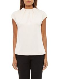 Ted Baker Landa Gathered High Neck Top