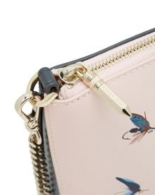Ted Baker Conan Fly fish print leather cross body bag