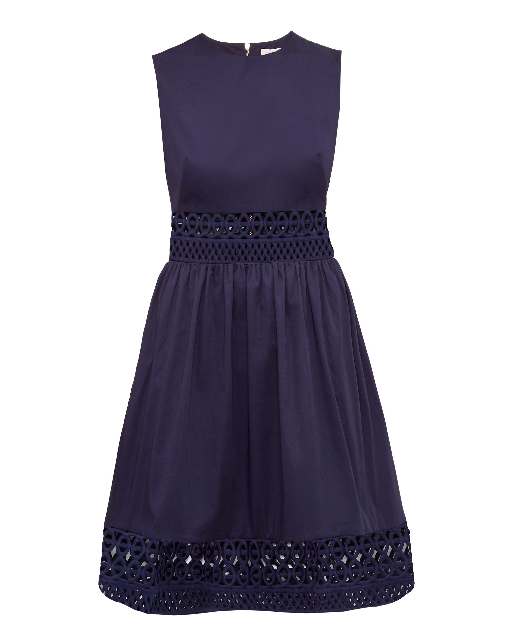 Ted Baker Dayzey Cut-Work Dress, Blue