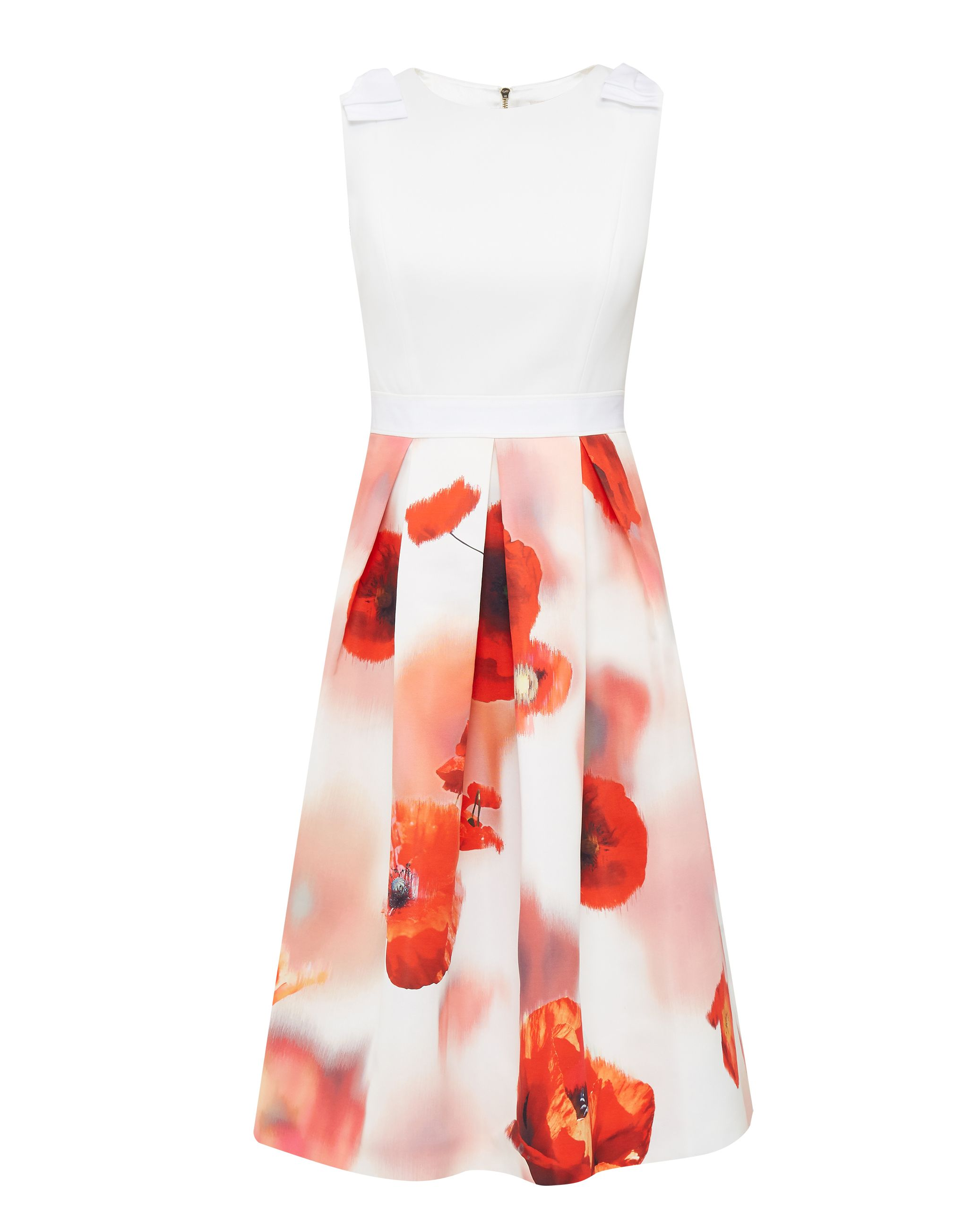 Ted Baker Micla Poppy Dress, White