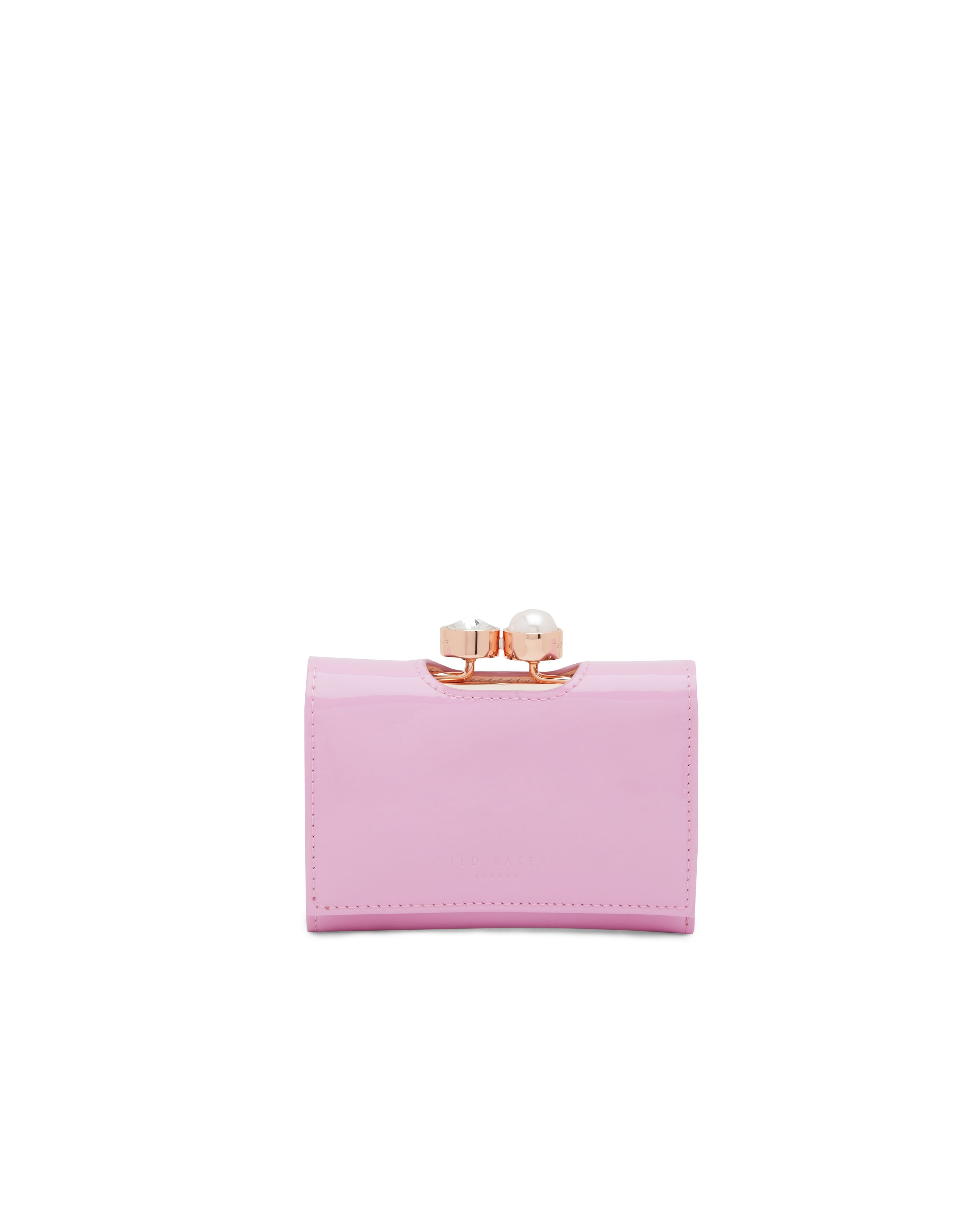 Ted Baker Alix Pearl Bobble Small Leather Purse Pastel Pink