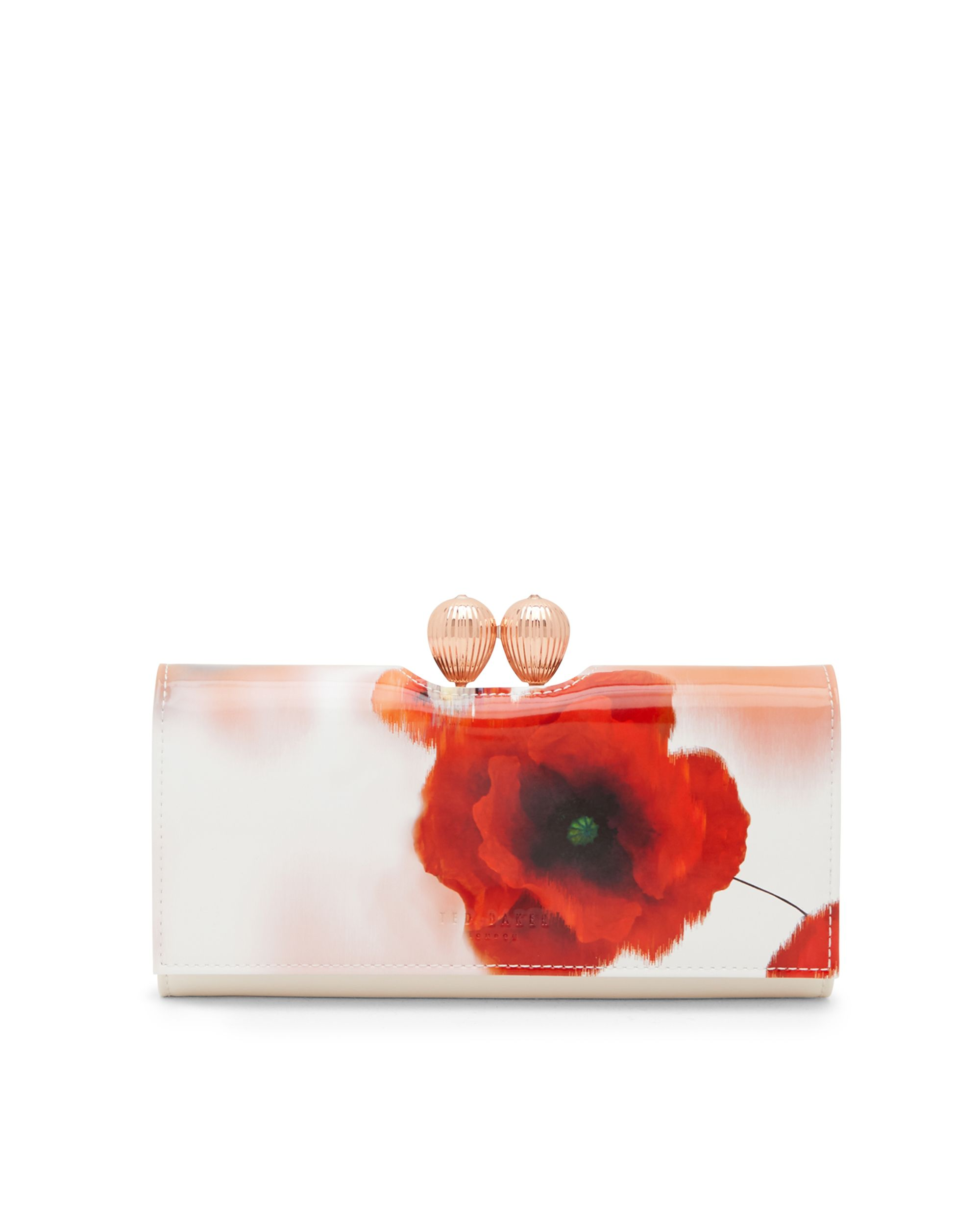 Ted Baker Dolcie Poppy Leather Matinee Purse Red