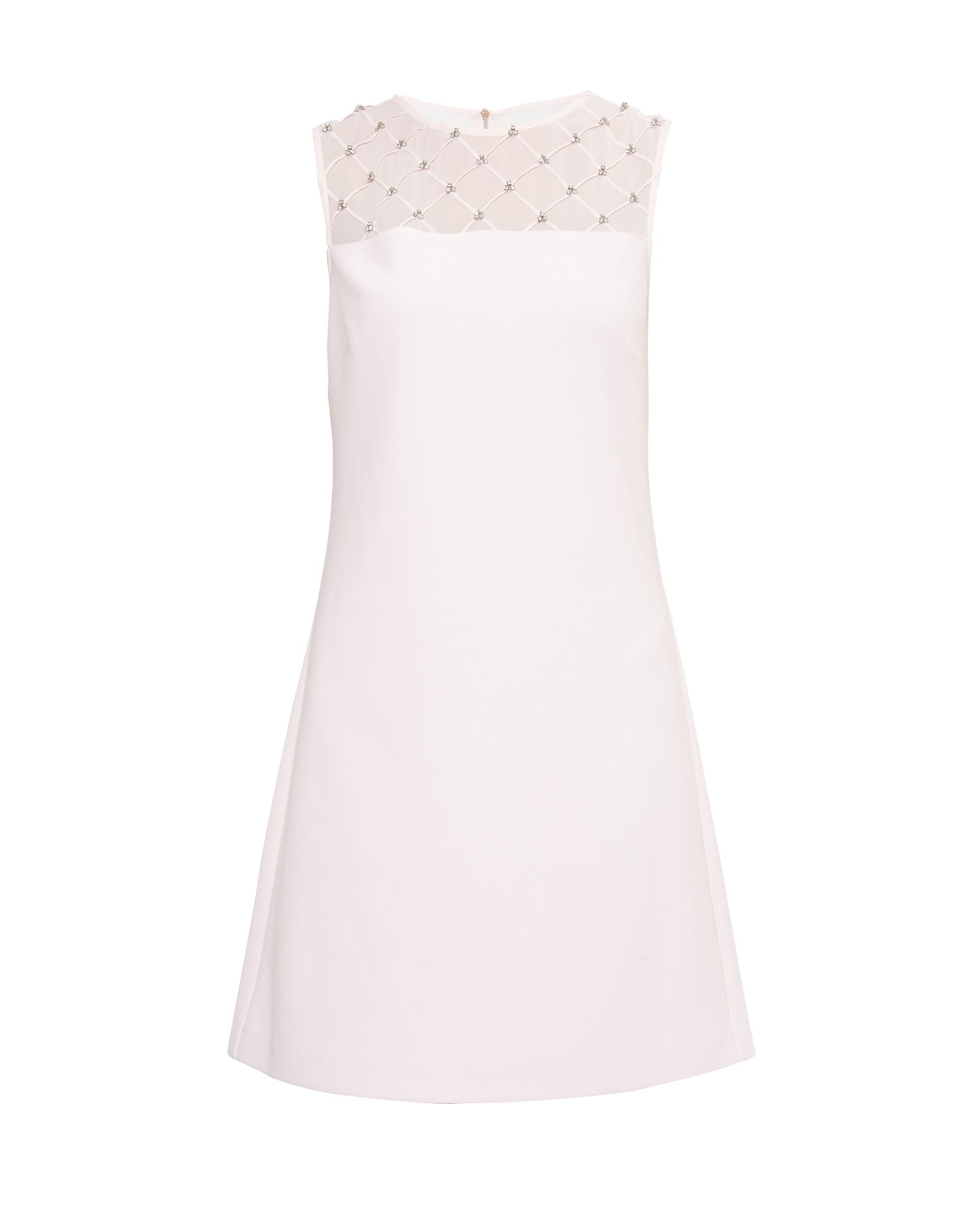 Ted Baker Danyel Embellished Shift Dress, Pastel Pink