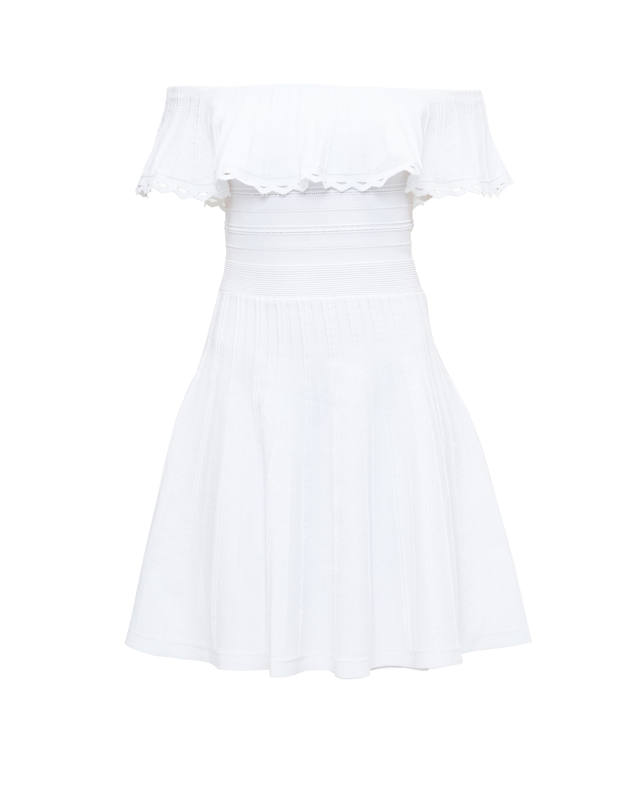 Ted Baker Dilpree Off-The-Shoulder Skater Dress, White