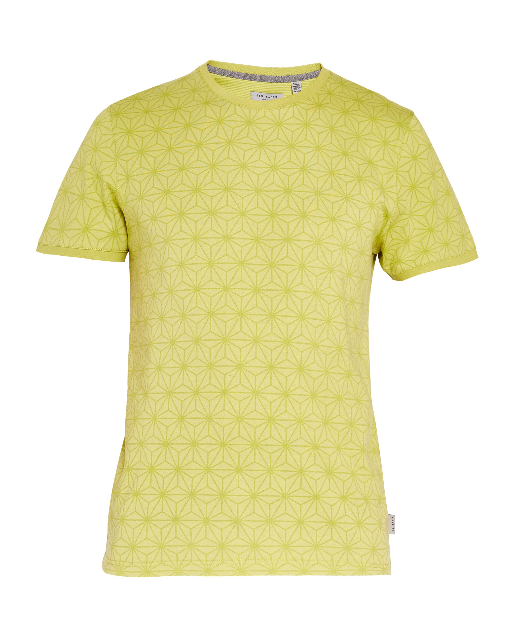 Men's Ted Baker Mitchal All Over Printed T-Shirt, Lime