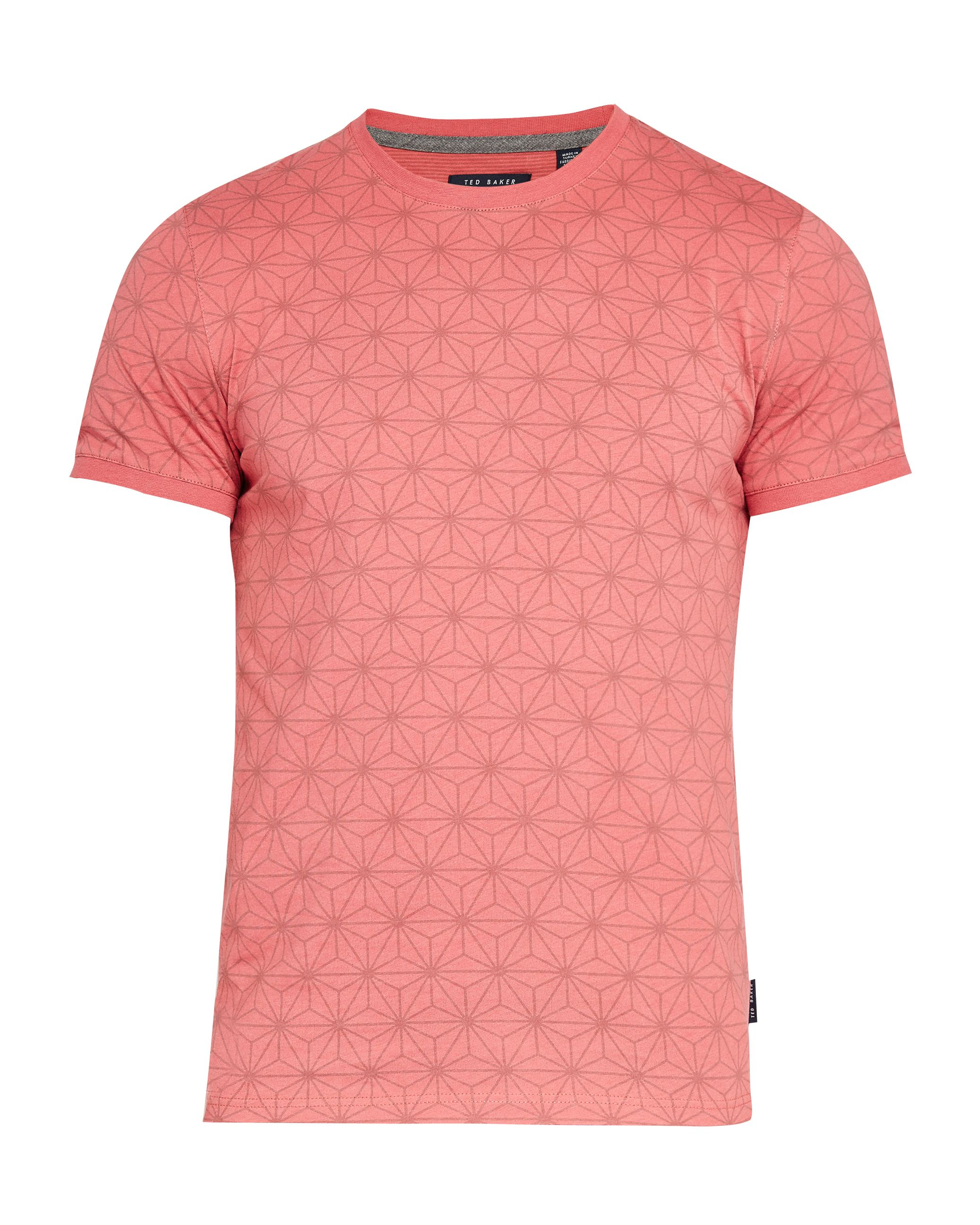 Men's Ted Baker Mitchal All Over Printed T-Shirt, Pink