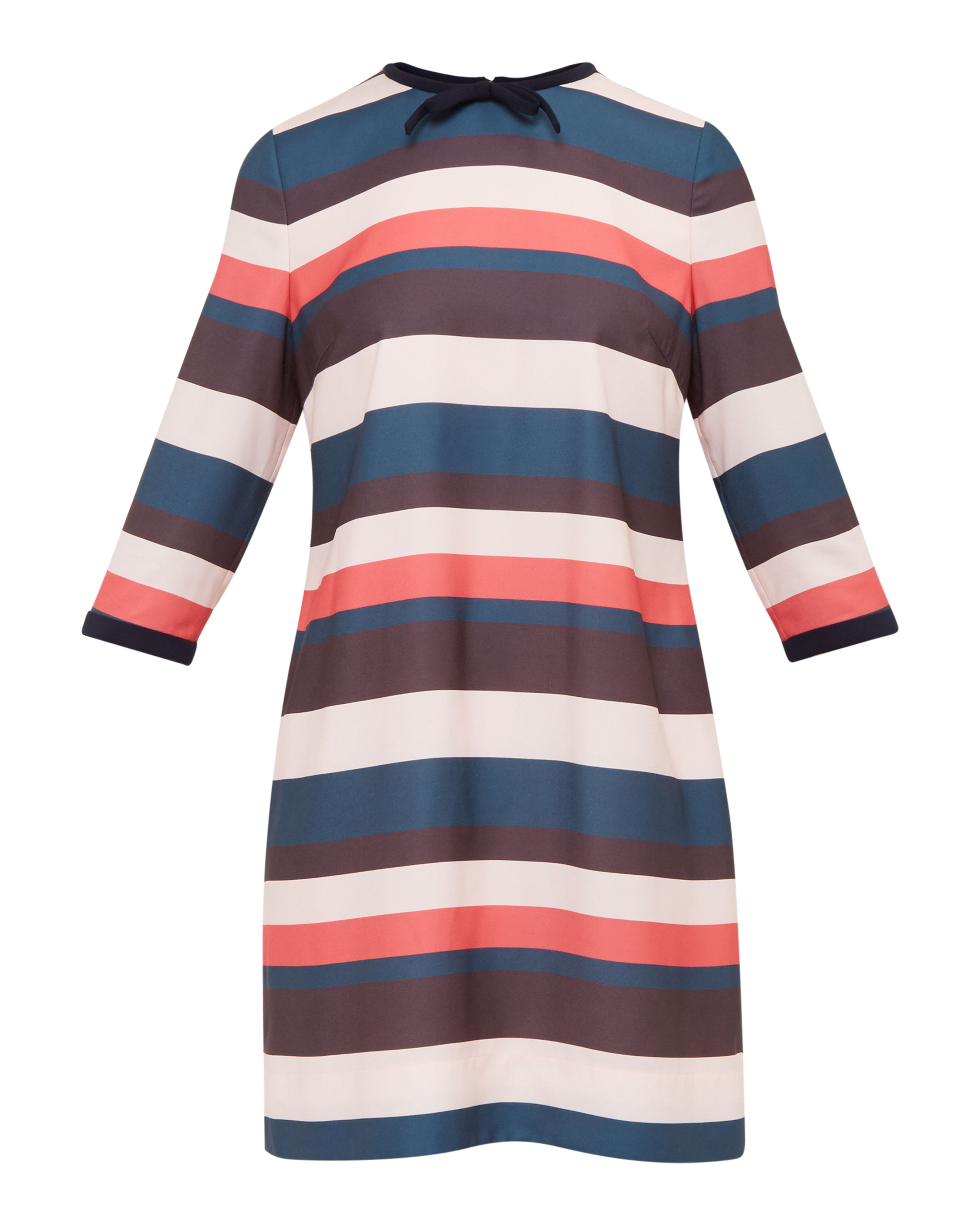 Ted Baker Yakira Striped colour-block dress, Pink