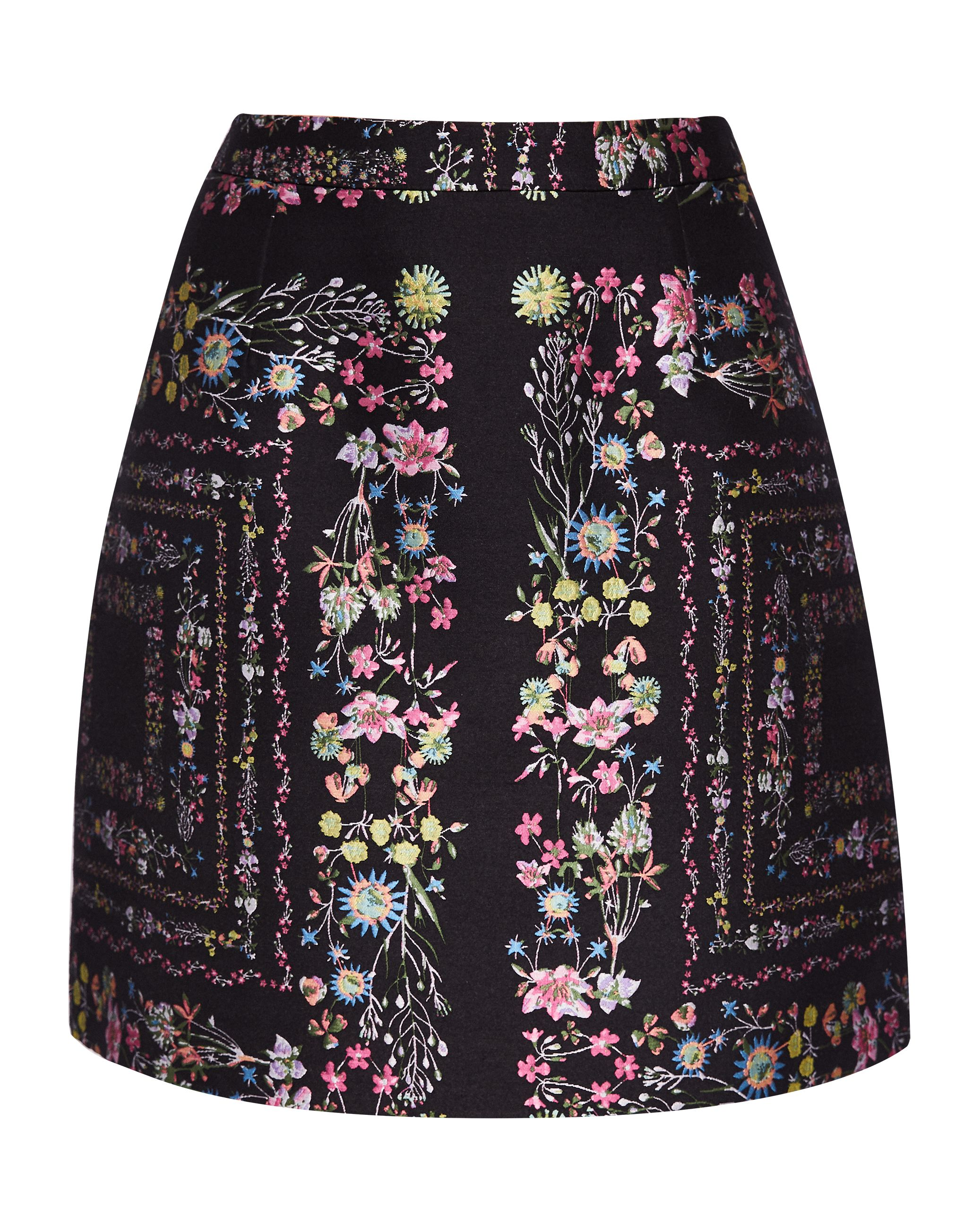 Ted Baker Addizon Unity Floral Skirt, Black