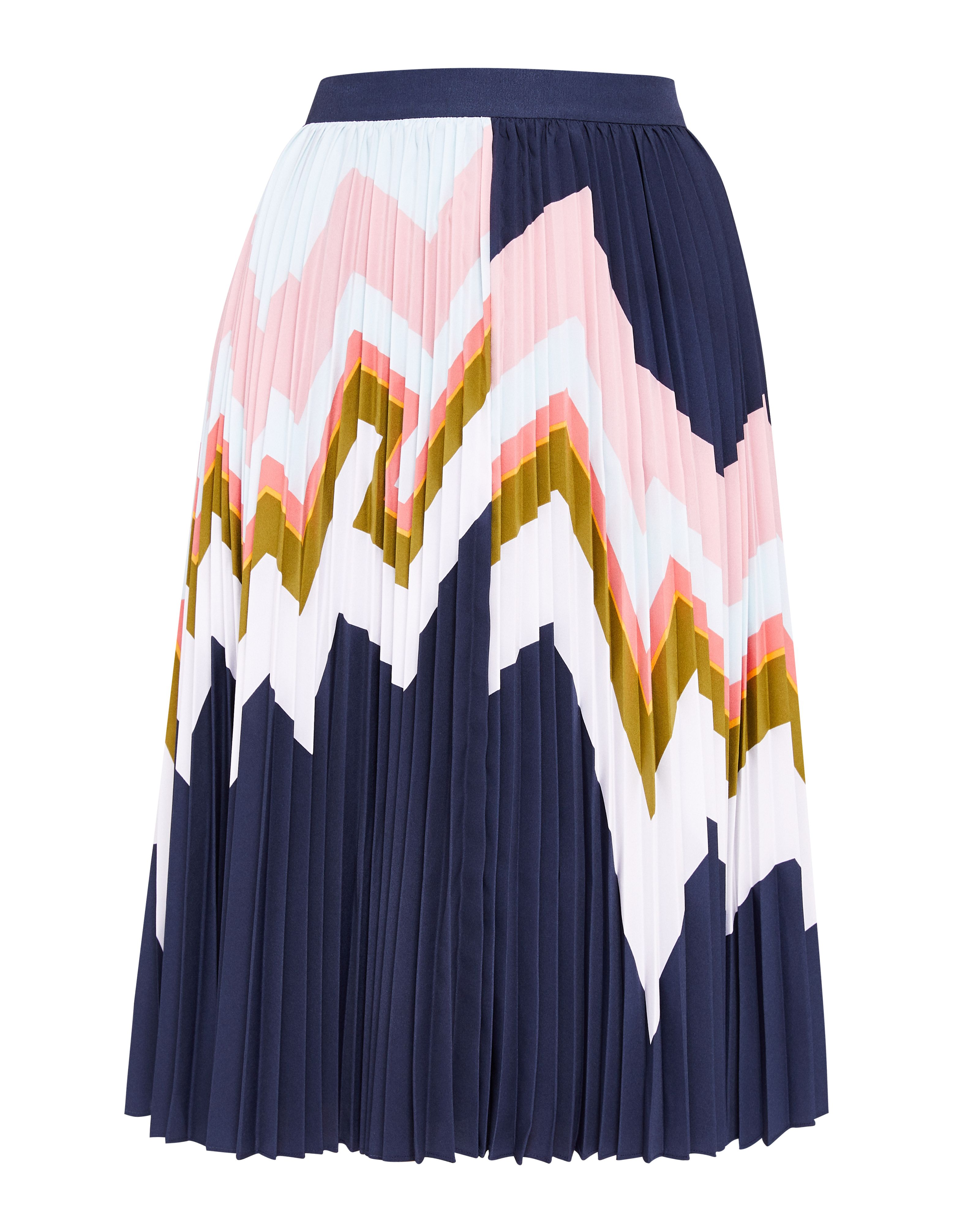 Ted Baker Evianna Mississippi Pleated Skirt, Blue