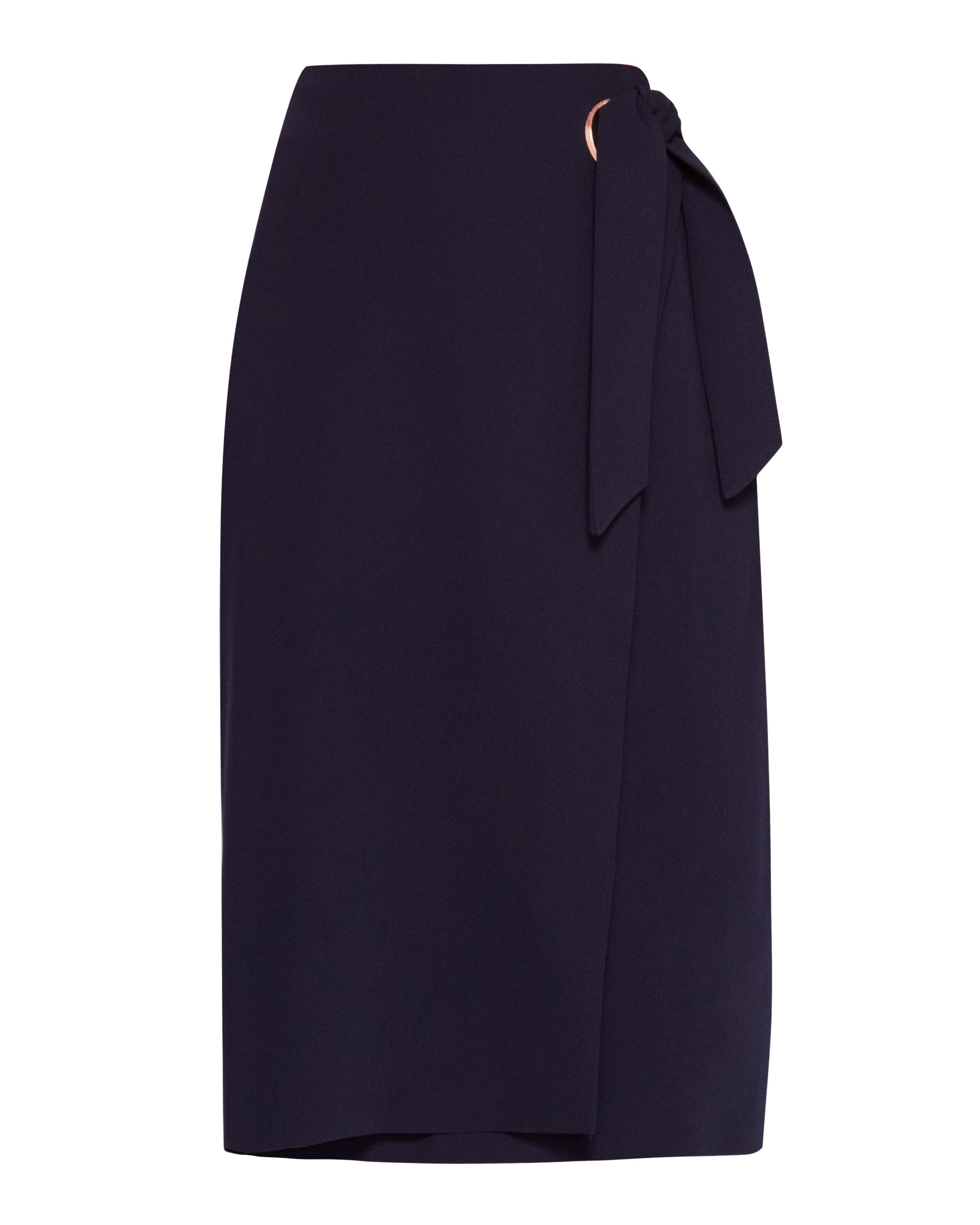 Ted Baker Teea Eyelet Detail Wrap Skirt, Blue
