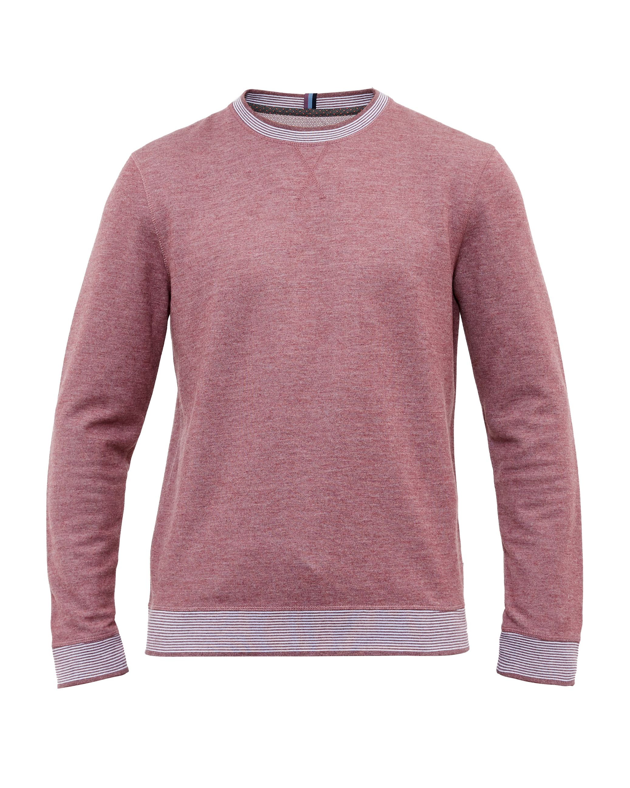 Men's Ted Baker Kaspa Crew Neck Sweatshirt, Purple