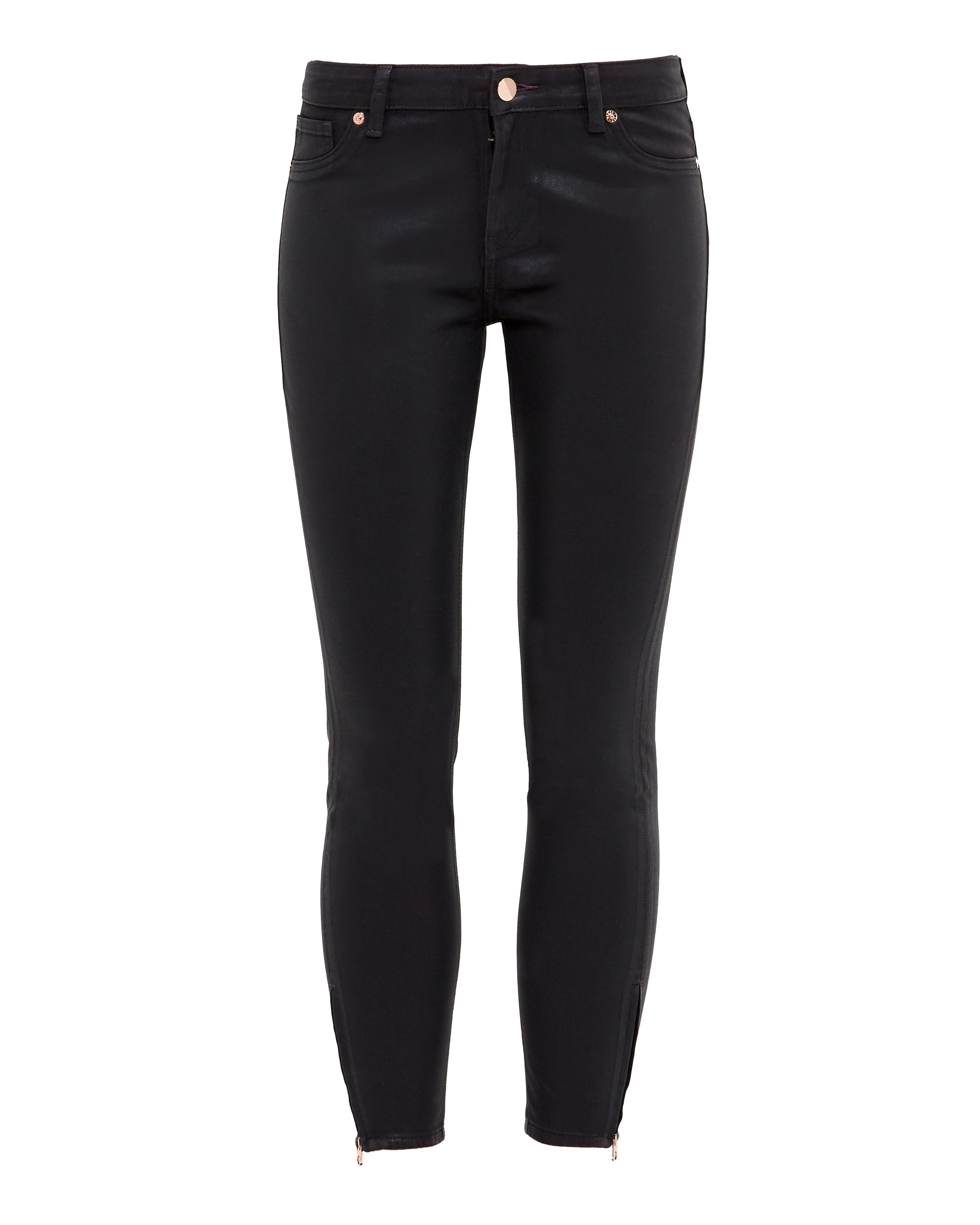 Ted Baker Annnas Wax Finish Skinny Jeans Black