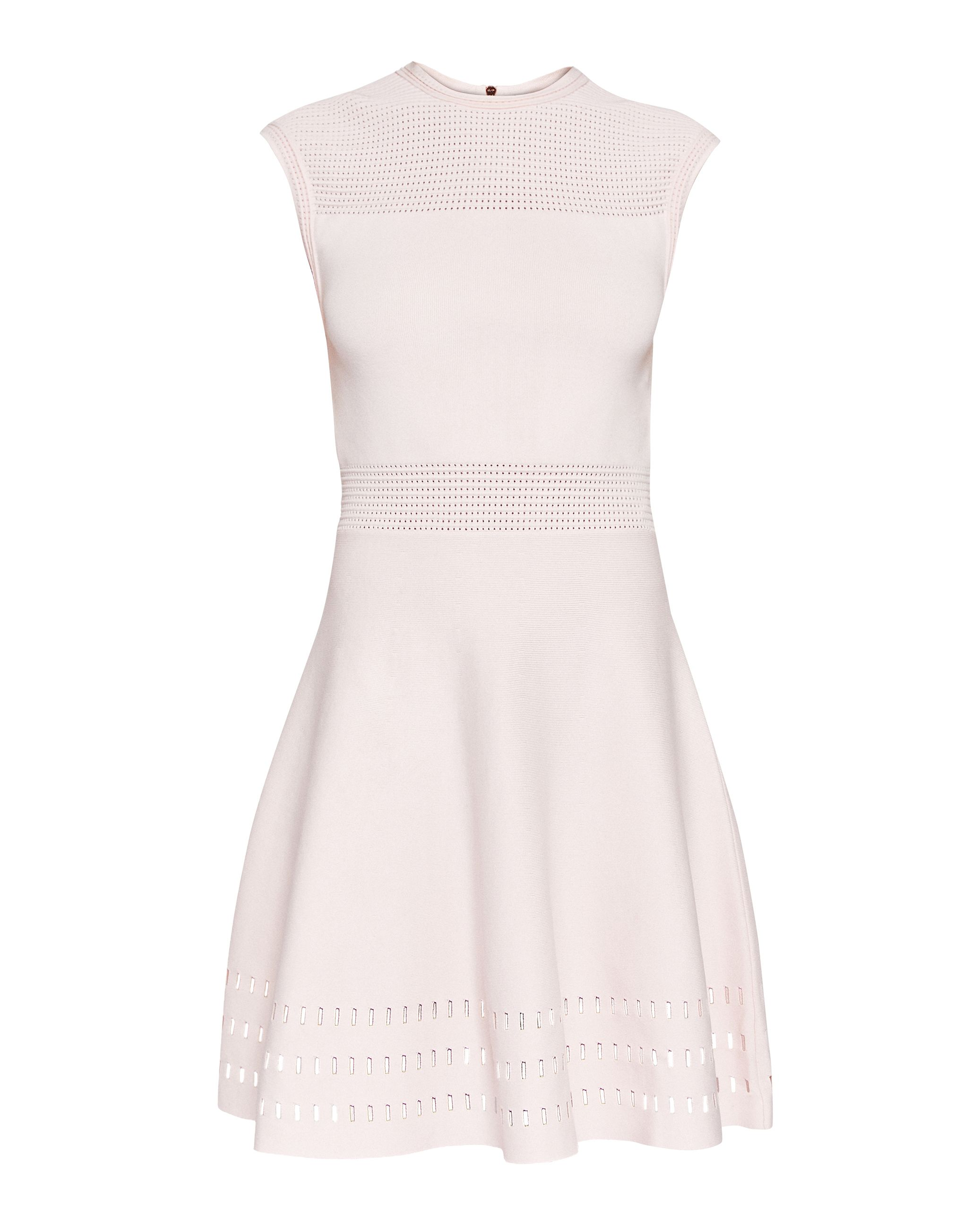 Ted Baker Aurbray Knitted Skater Dress, Pink