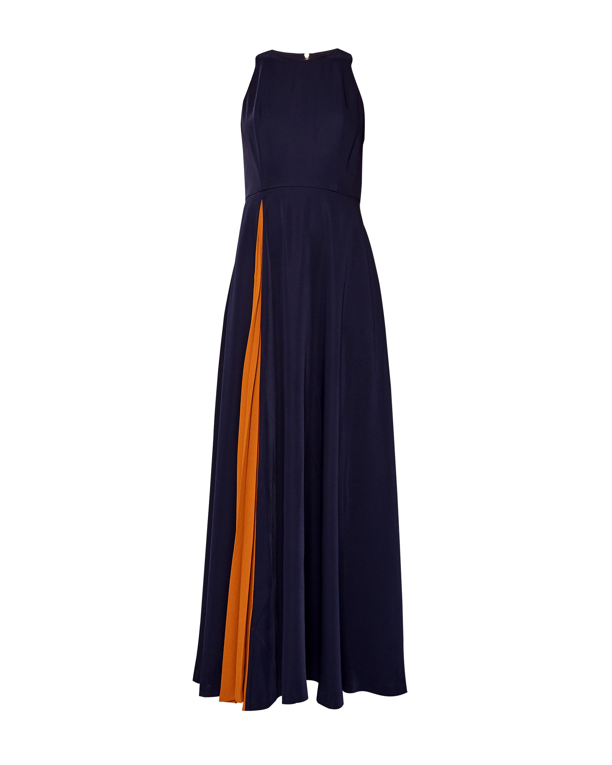 Ted Baker Madizon Contrast Pleat Maxi Dress, Blue